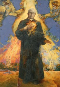 The Blessed Priest Michał Sopoćko. Oil on canvas. 160 x 100. 2008