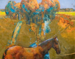 The Apple Orchard. Oil on canvas. 50 x 65. 2006