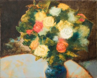 Roses on the Table. Oil on canvas. 40 x 50. 2007