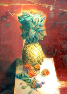 Still Life with  Pineapple. Oil on canvas