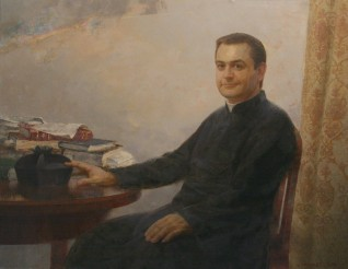 Portrait of the Priest . Oil on canvas. 70 x 90. 2011
